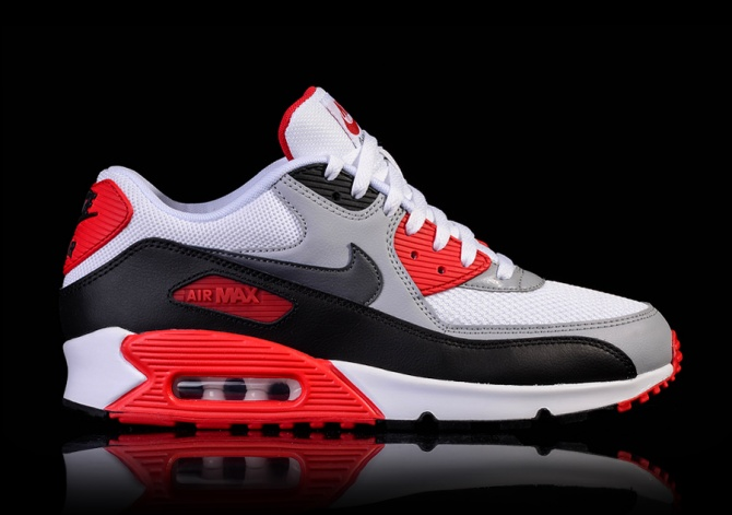 NIKE AIR MAX 90 ESSENTIAL WHITE FIRE RED