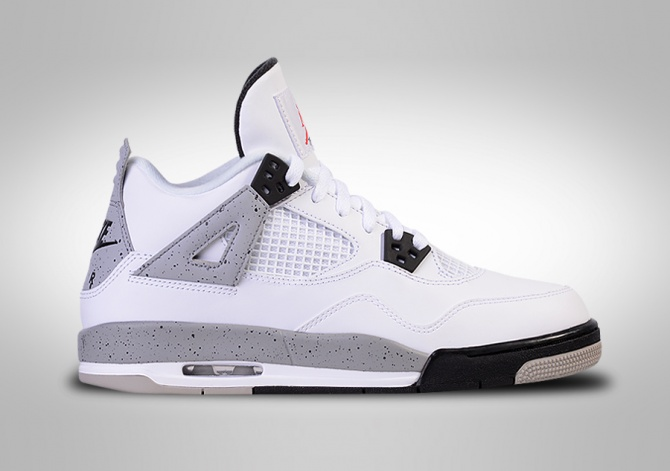 NIKE AIR JORDAN 4 RETRO OG 'WHITE CEMENT' BG (SMALLER SIZE)