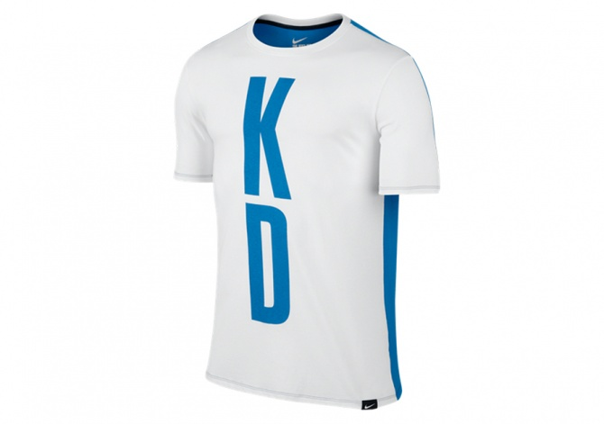 NIKE KD 35 SPLIT TEE WHITE PHOTO BLUE