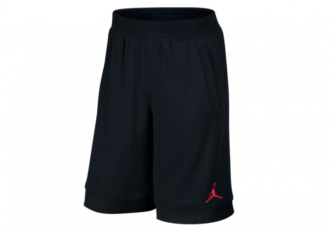 NIKE AIR JORDAN FLEECE SHORTS BLACK