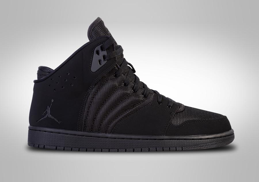 Air 4 Nike 1 Flight All Black Jordan ZiOuTPkX