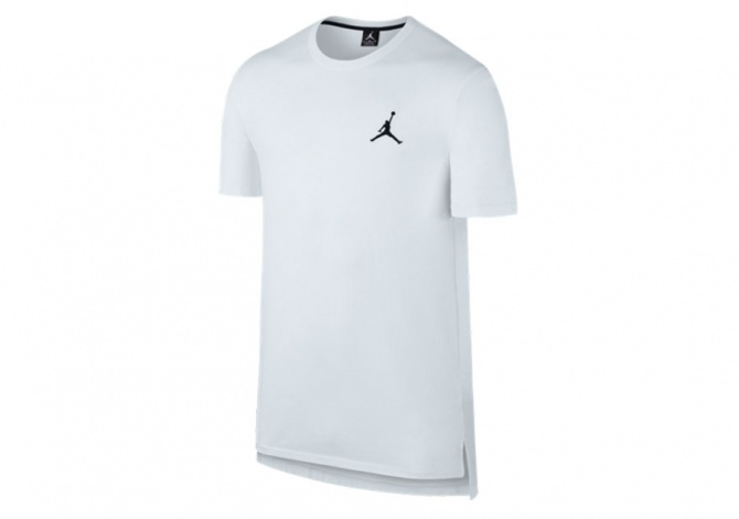NIKE CORE S/S LONG TOP WHITE/BLACK