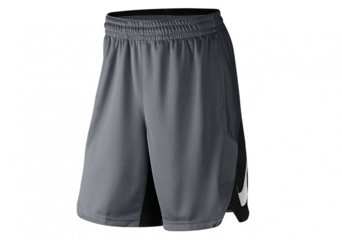 NIKE HYPERELITE POWER SHORT METALLIC SILVER