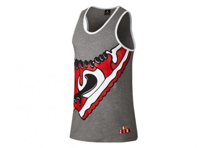 NIKE JORDAN SUNDAE TANK GREY HEATHER/WHITE