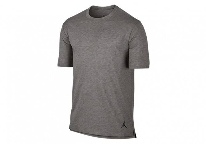NIKE AIR JORDAN 23 LUX POCKET TEE GREY HEATHER