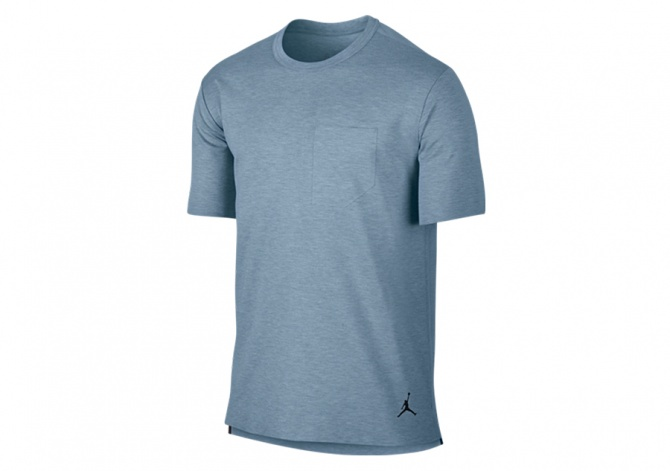 NIKE AIR JORDAN 23 LUX POCKET TEE BLUE GREY HEATHER