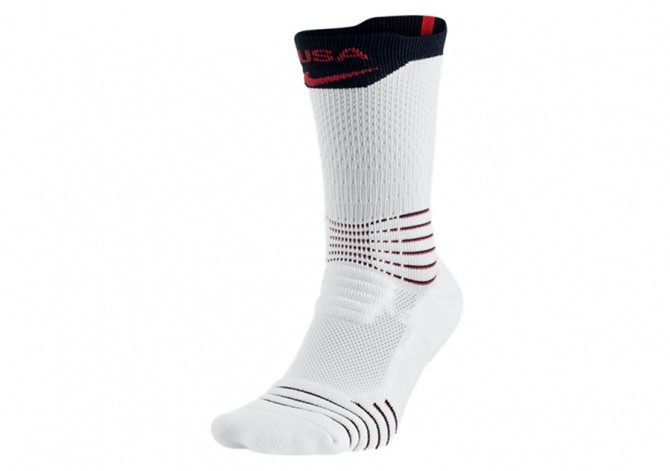 NIKE ELITE VERSATILITY CREW BASKETBALL SOCKS WHITE UNIVERSITY RED