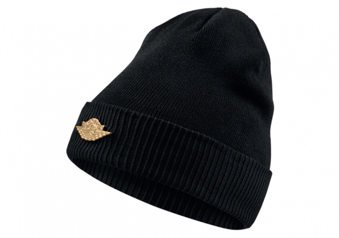 NIKE AIR JORDAN JUMPMAN BEANIE CUFF BLACK METALLIC GOLD