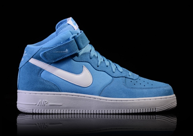 NIKE AIR FORCE 1 MID '07 UNIVERSITY BLUE/WHITE-WHITE