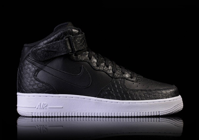 finest selection 74906 eac49 NIKE AIR FORCE 1 MID  07 LV8 BLACK BLACK-WHITE