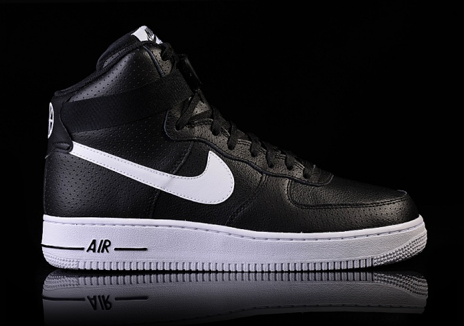NIKE AIR FORCE 1 HIGH '07 BLACK/WHITE-WHITE