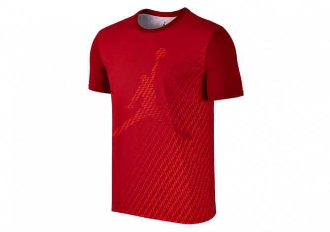 NIKE AIR JORDAN 31 DRI-FIT PRINTED TEE GYM RED
