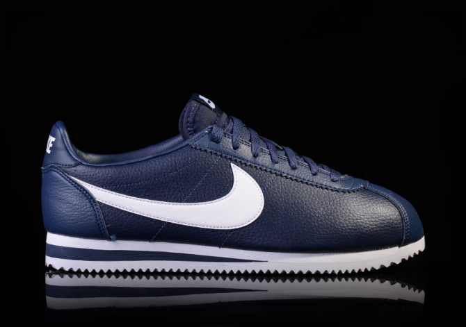 NIKE CLASSIC CORTEZ LEATHER MIDNIGHT NAVY/WHITE