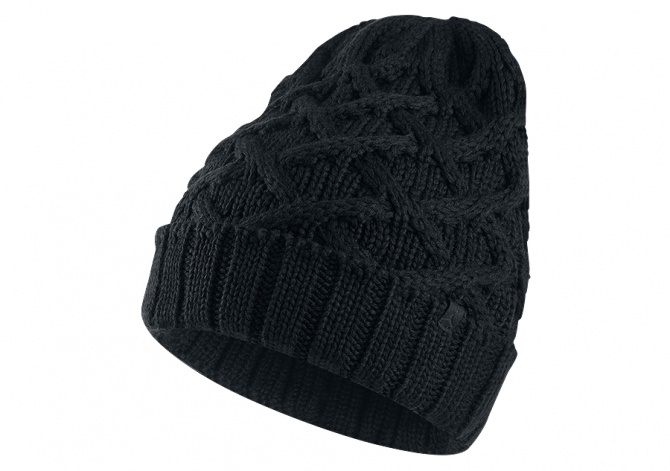 NIKE AIR JORDAN CABLE KNIT BEANIE BLACK