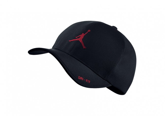 NIKE AIR JORDAN CLASSIC99 HAT BLACK GYM RED