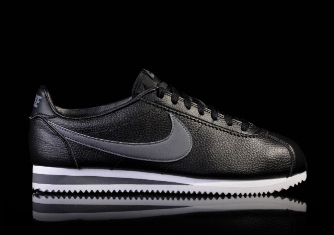NIKE CLASSIC CORTEZ LEATHER BLACK