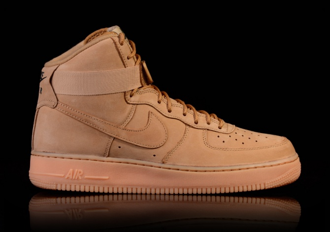 NIKE AIR FORCE 1 HIGH '07 LV8 WB FLAX-OUTDOOR GREEN-GUM LIGHT BROWN