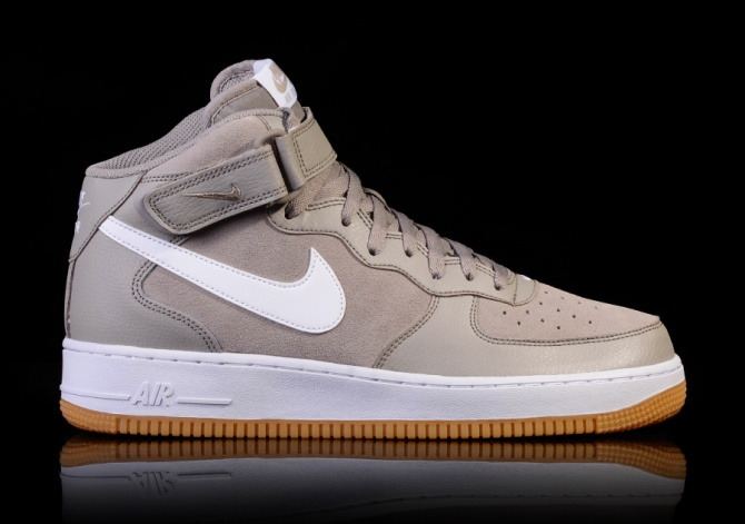 NIKE AIR FORCE MID '07 LIGHT TAUPE/WHITE-GUM LIGHT BROWN