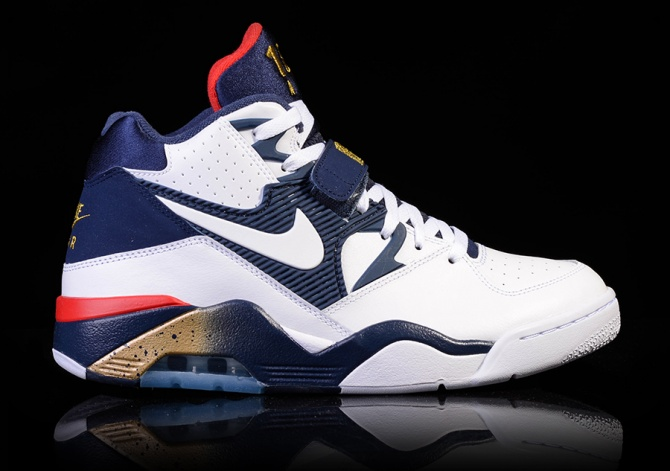 AIR FORCE 180 WHITE-MIDNIGHT NAVY-METALLIC GOLD