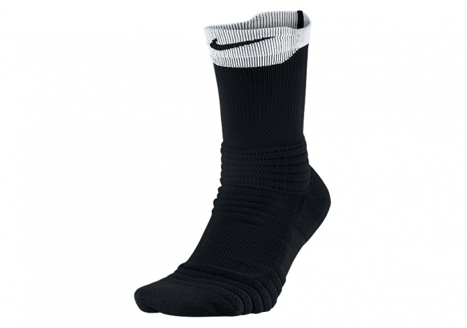 NIKE ELITE VERSATILITY CREW BASKETBALL SOCKS BLACK