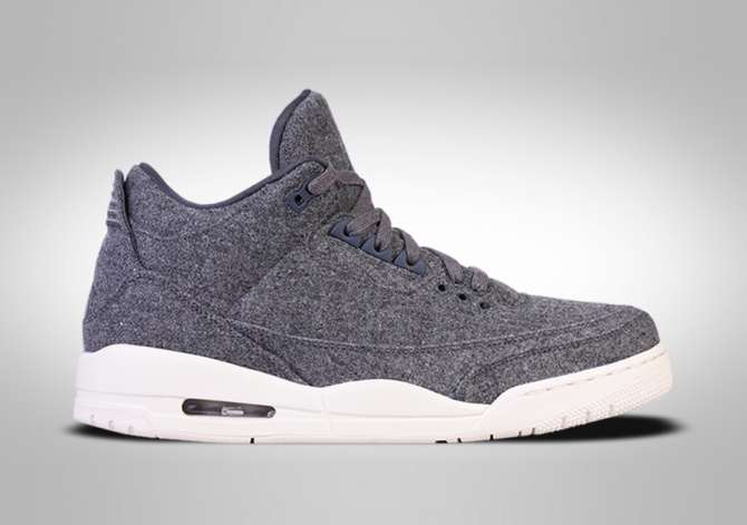 NIKE AIR JORDAN 3 RETRO WOOL BG (SMALLER SIZE)