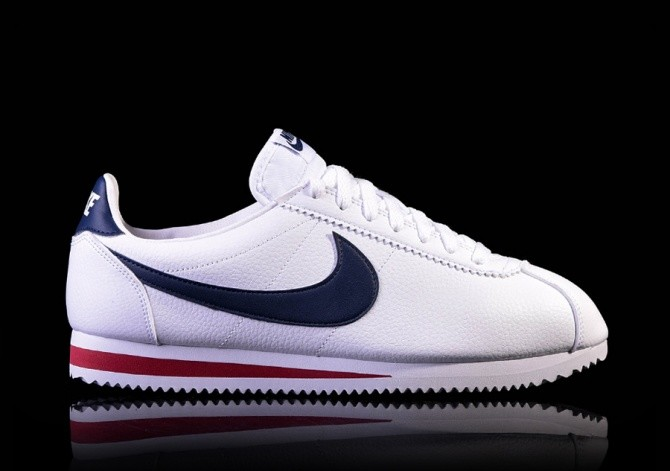 NIKE CLASSIC CORTEZ LEATHER WHITE MIDNIGHT NAVY-GYM RED price €85.00 ... 0ec7ad7e2097