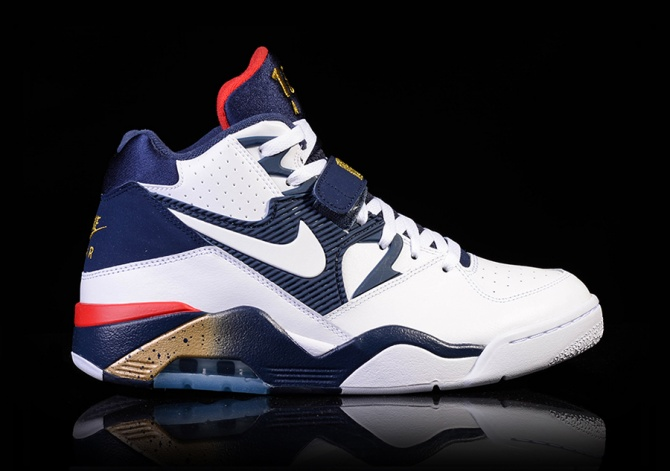 NIKE AIR FORCE 180 WHITE-MIDNIGHT NAVY-METALLIC GOLD
