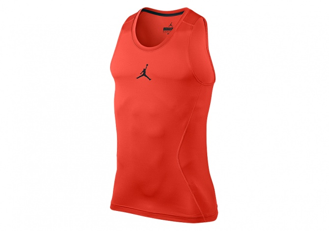 NIKE AIR JORDAN ALL SEASON COMPRESSION TANK MAX ORANGE