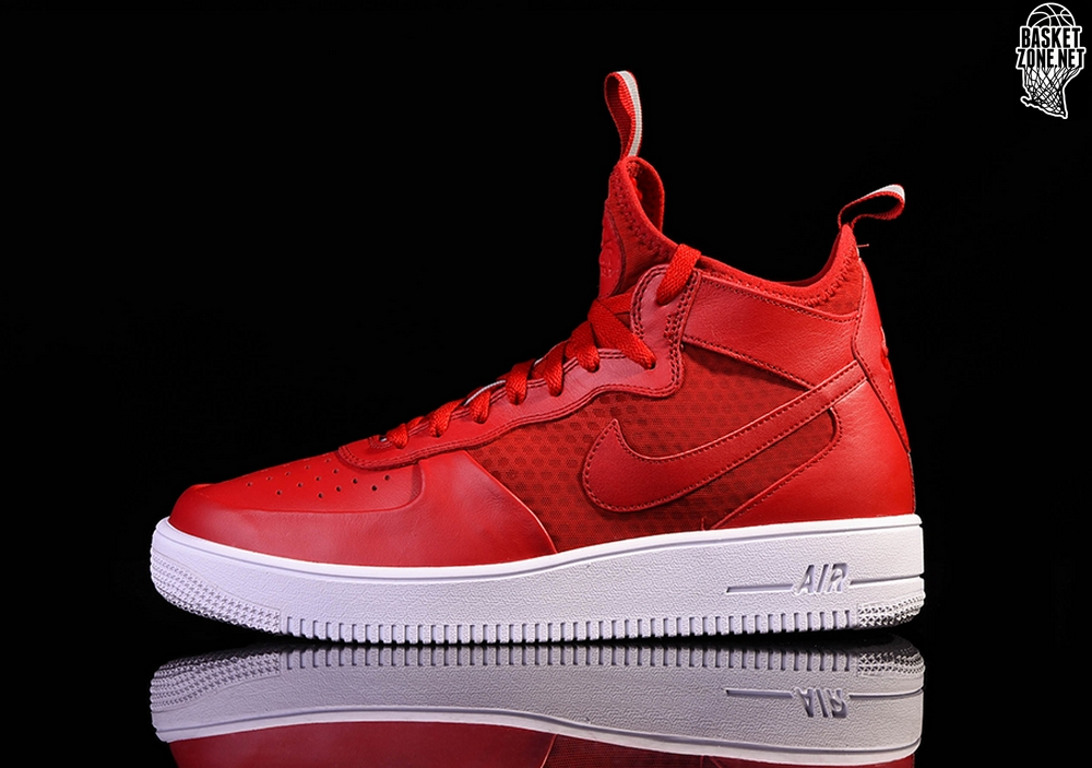 size 40 39ee9 a9785 NIKE AIR FORCE 1 ULTRAFORCE MID GYM RED