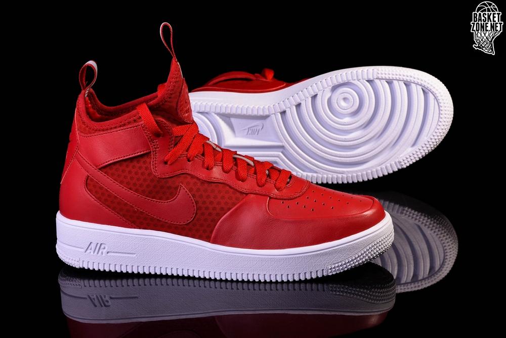 buty nike air force 1 ultraforce mid czerwone/białe