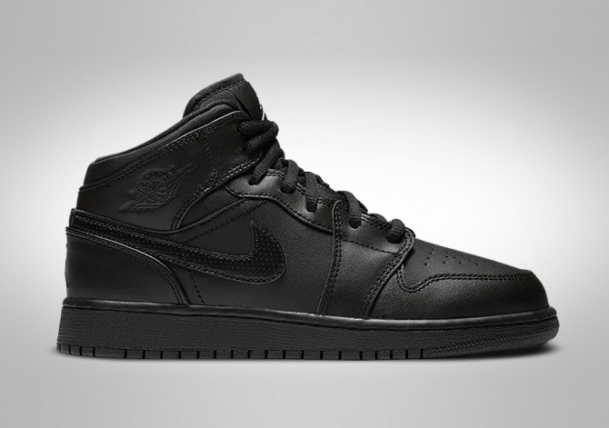 1a04a20c NIKE AIR JORDAN 1 RETRO MID GS (SMALLER SIZE) BLACK por €72,50 ...