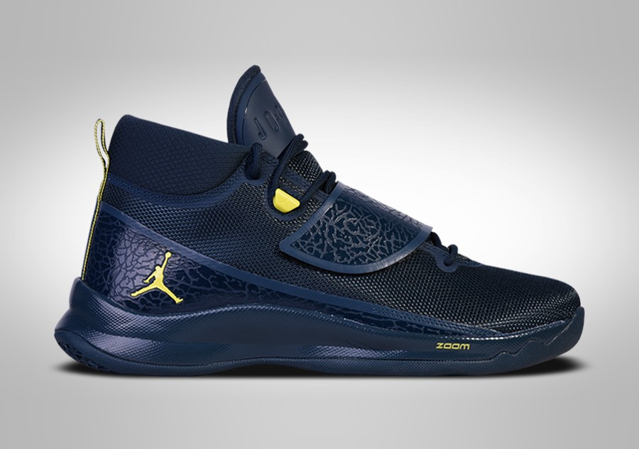 hot sales 00449 63c5c NIKE AIR JORDAN SUPER.FLY 5 PO NAVY BLUE LIME BLAKE GRIFFIN