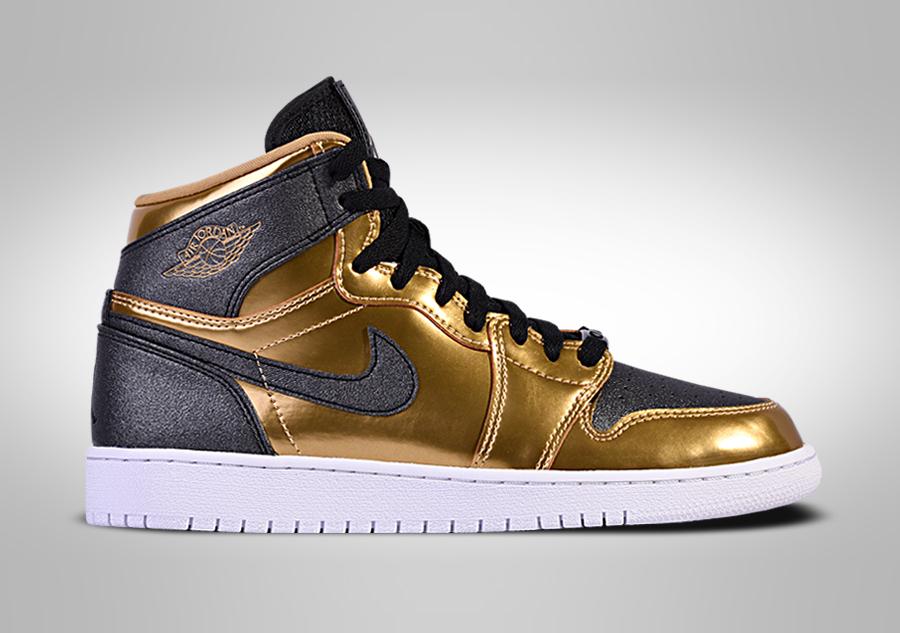 nike air jordan retro 1 czarne złote 47