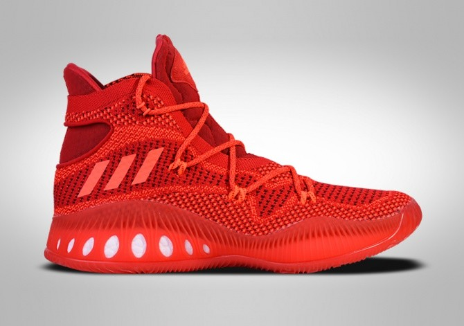 cheap for discount 3fef0 2ee55 ADIDAS CRAZY EXPLOSIVE PRIMEKNIT SOLAR RED