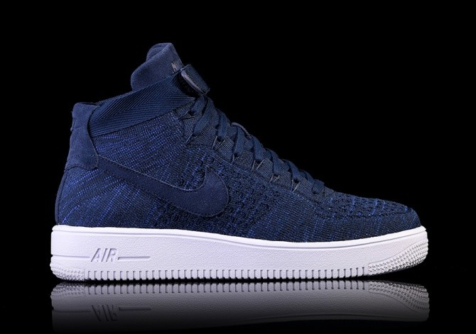 the latest f2e82 12c52 NIKE AIR FORCE 1 ULTRA FLYKNIT MID COLLEGE NAVY