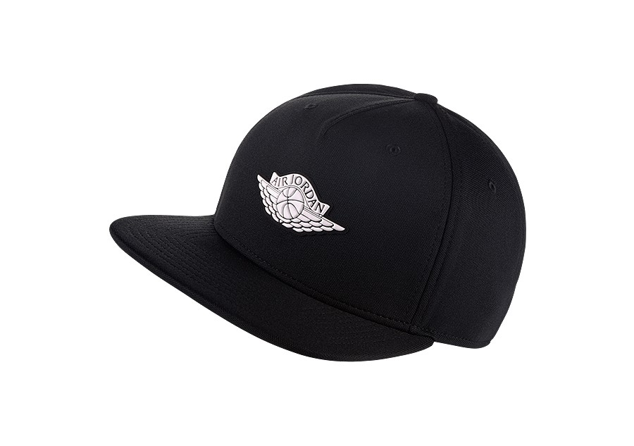 643fa1d1f9c NIKE AIR JORDAN WINGS STRAPBACK HAT BLACK price €32.50