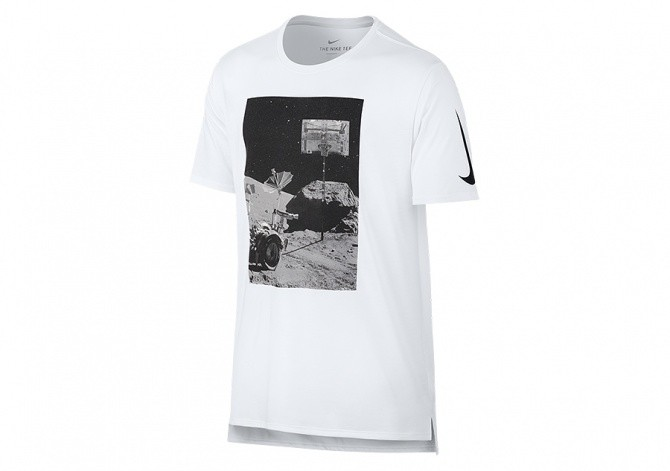 NIKE DRY BASKETBALL MOONSHOT TEE WHITE