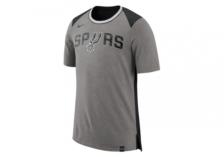 NIKE NBA SAN ANTONIO SPURS TOP FAN DK GREY HEATHER