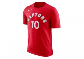 NIKE NBA TORONTO RAPTORS DRY TEE N&N UNIVERSITY RED