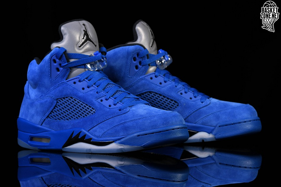 outlet store 8f630 0e477 NIKE AIR JORDAN 5 RETRO BLUE SUEDE price €185.00   Basketzone.net