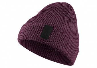 NIKE AIR JORDAN LOOSE GAUGE CUFF KNIT BEANIE BORDEAUX