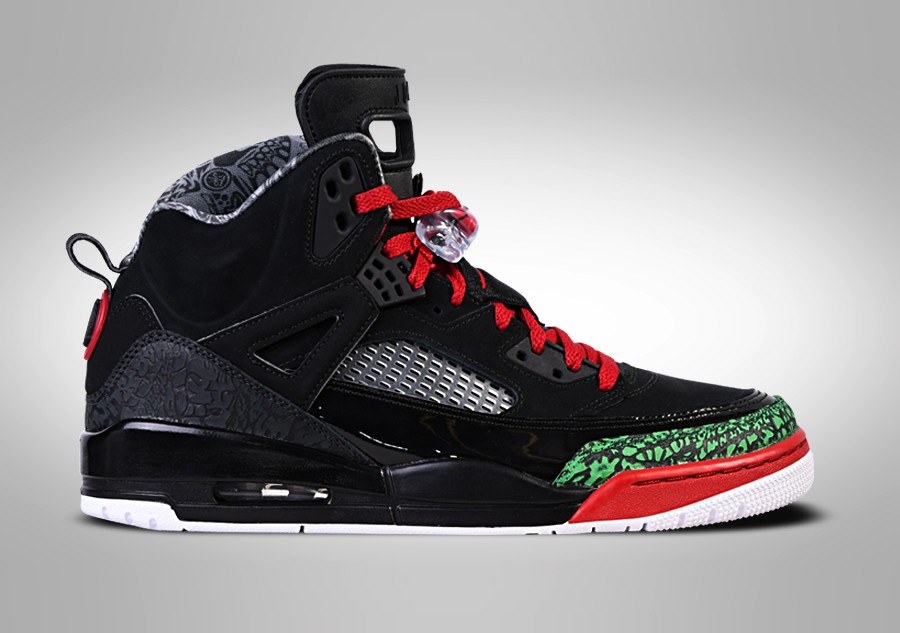 sports shoes 6bc89 dc3d3 NIKE AIR JORDAN SPIZIKE BLACK RED POISON GREEN