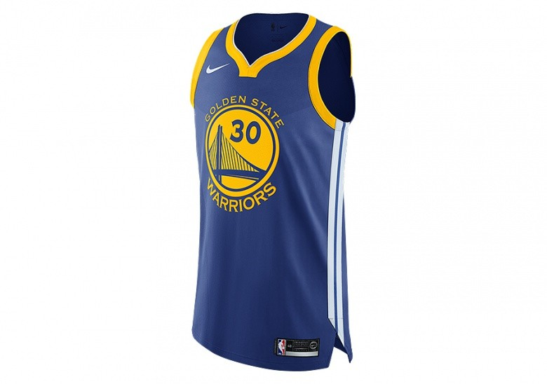 141c7aa5df5 NIKE NBA GOLDEN STATE WARRIORS STEPHEN CURRY AUTHENTIC JERSEY ROAD RUSH BLUE
