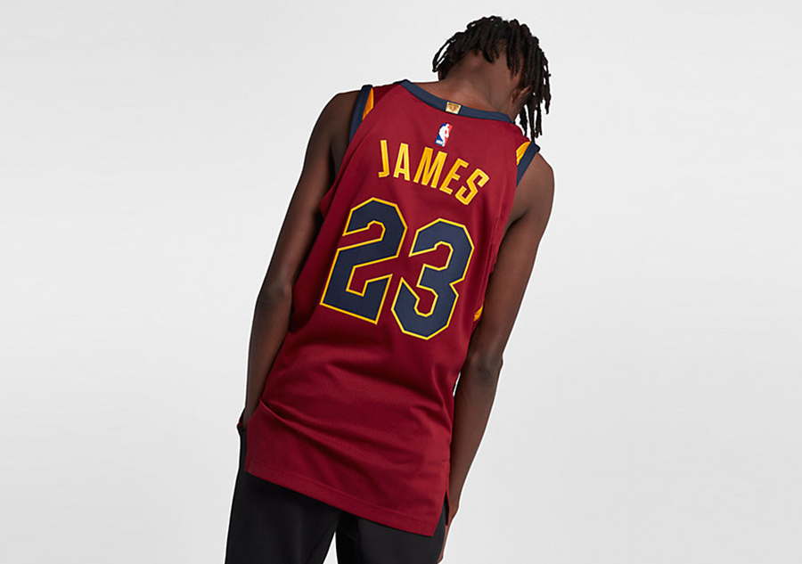 e9df5932c419 NIKE NBA CLEVELAND CAVALIERS LEBRON JAMES AUTHENTIC JERSEY ROAD TEAM RED