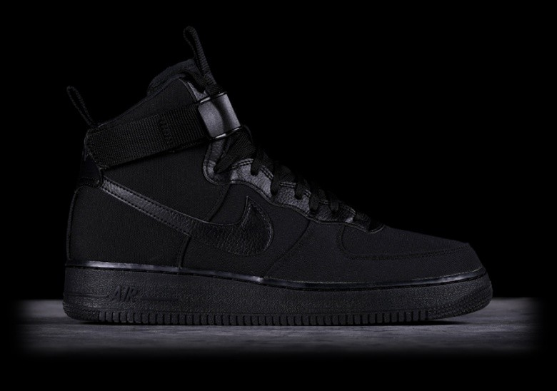 NIKE AIR FORCE 1 HIGH '07 CANVAS BLACK