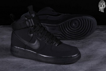 new product a2adb c5590 NIKE AIR FORCE 1 HIGH 07 CANVAS BLACK