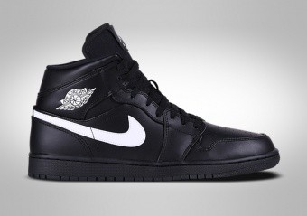 reputable site 8fd87 3ad19 NIKE AIR JORDAN 1 RETRO MID BLACK WHITE