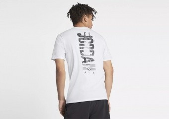 NIKE AIR JORDAN RISE BASKETBALL PHOTO TEE WHITE