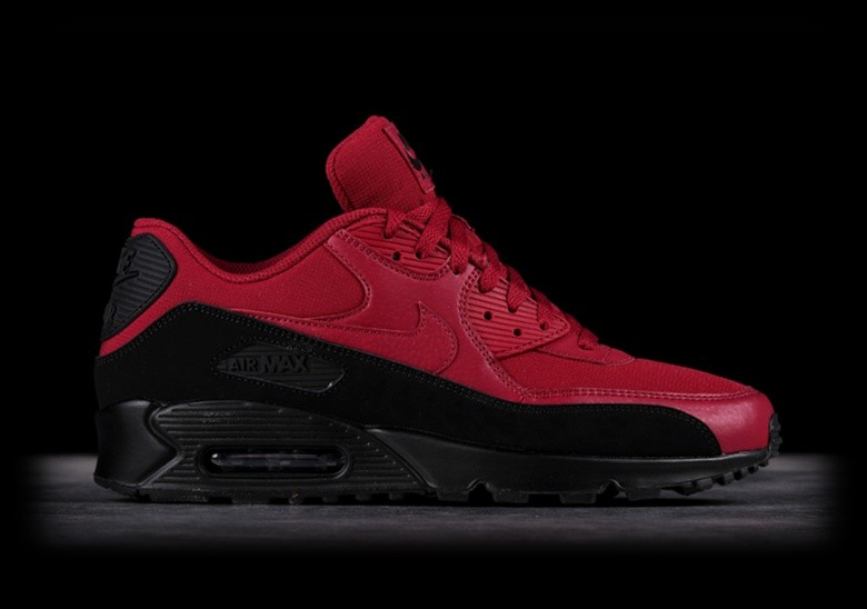 separation shoes 19ef8 a696f NIKE AIR MAX 90 ESSENTIAL BLACK RED