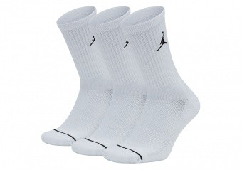 NIKE AIR JORDAN JUMPMAN EVERYDAY CREW SOCKS WHITE